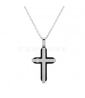 Croce in acciaio con pietra