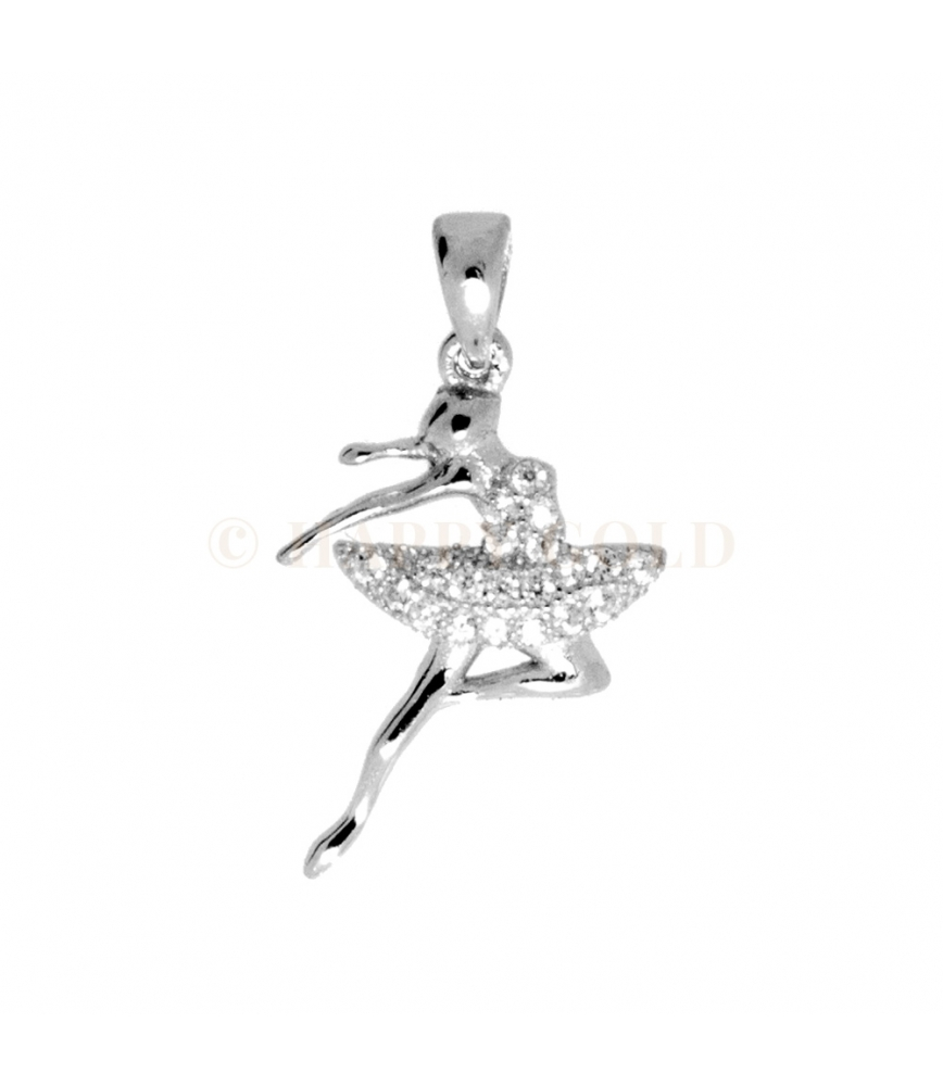 e2eede4a94 Ciondolo in Argento Ballerina con zirconi